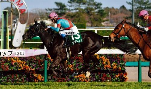 日本での重賞勝利は「自信になった」という(3月20日、中山競馬場)=JRA提供