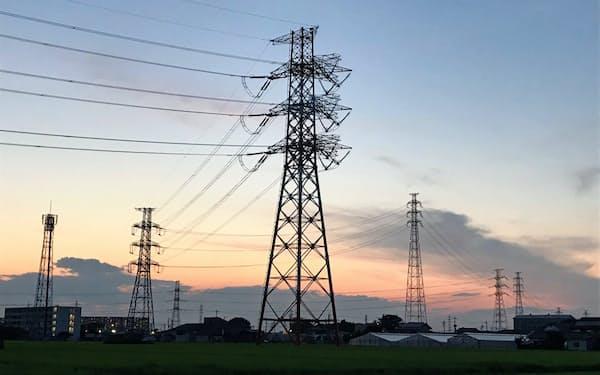 電力需要は全国的に鈍い(埼玉県内)