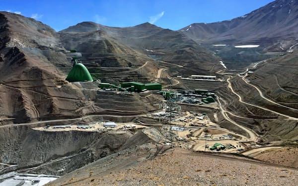 銅需要の下半期での回復は厳しい見通しだ(チリのカセロネス銅鉱山)