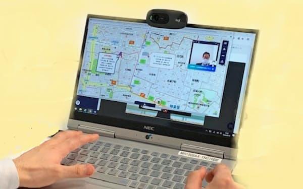三菱地所レジデンスはパソコンの画面で客と資料やVRのモデルルームを共有しながら商談を進める