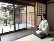 古民家ホテルでは庭園を眺められる客室もある(18日、愛媛県大洲市)