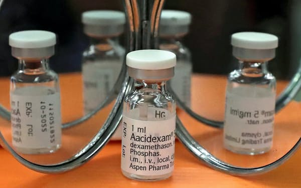 抗炎症薬「デキサメタゾン」のアンプル=ロイター