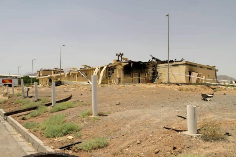 イランが公開した火災で損傷した核施設(7月2日、ナタンツ)=ロイター