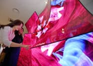 LGディスプレーは23日、中国広州市のテレビ向け有機ELパネル工場を稼働させた