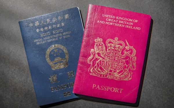 香港返還以前に生まれた香港市民は英国海外市民パスポートを持つことができる=AP