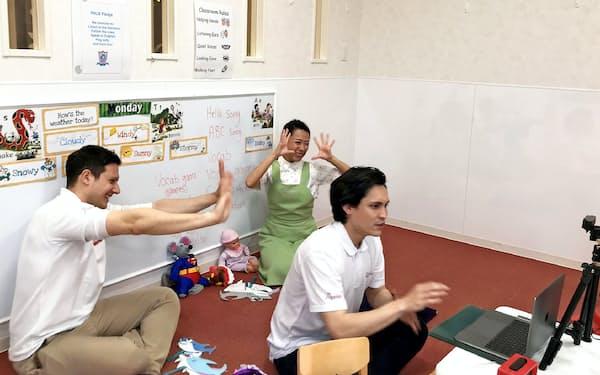 ポピンズはオンラインで英語やダンスなどの保育を実施
