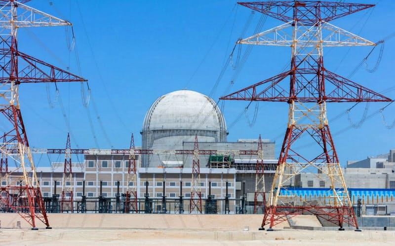 UAE西部で建設が進むバラカ原発(UAE原子力会社ECEC提供)