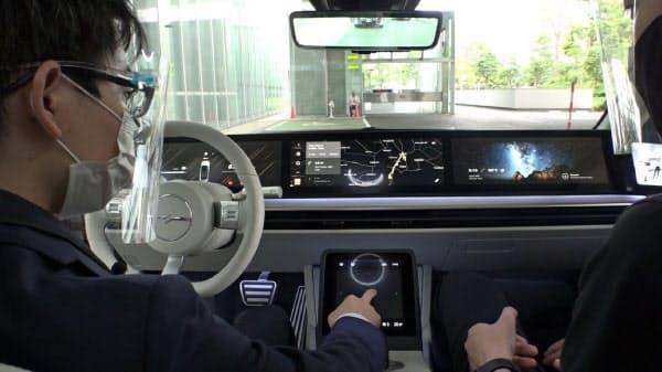 ソニーEV試作車は車内のパネルで地図を見たり映画・音楽を楽しんだりできる
