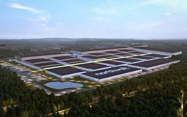ノースボルトがスウェーデン北部に建設中のEV電池工場の完成イメージ
