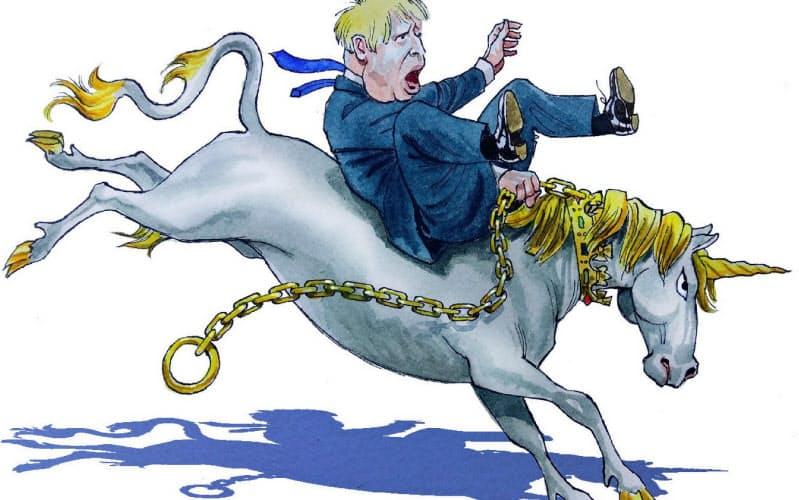イラスト James Ferguson/Financial Times(ユニコーンはスコットランドの国獣)