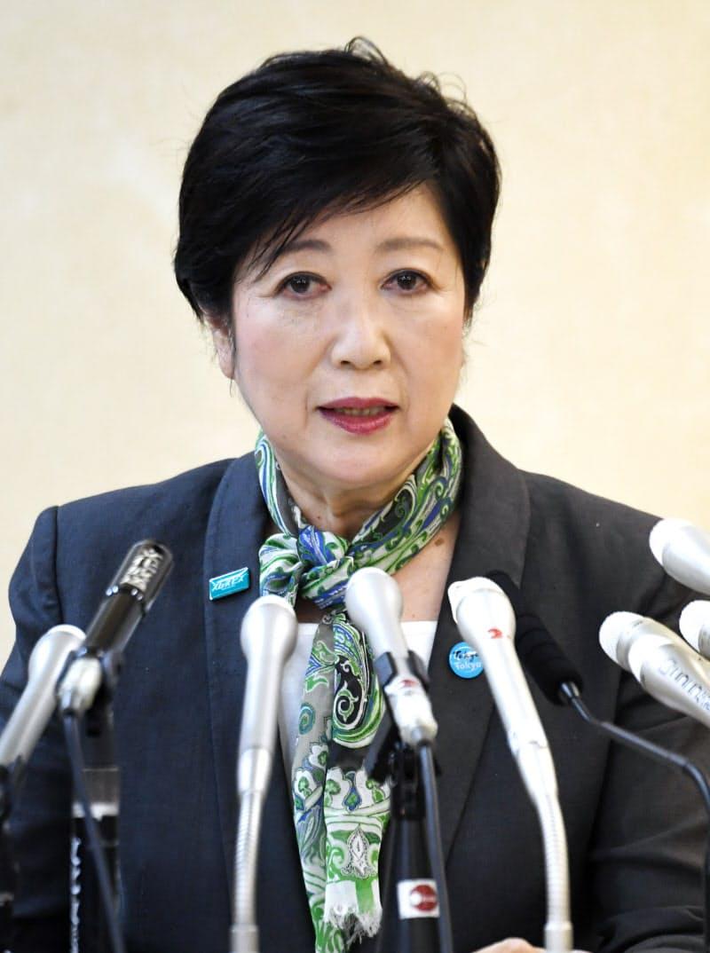 広域連携と地方分権を再選時の公約に掲げた(6月12日の出馬会見)