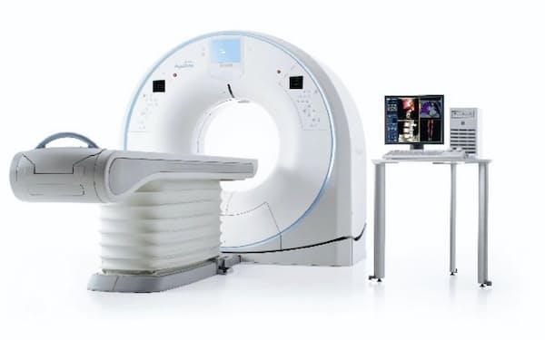 キヤノン系が診断車に搭載するコンピューター断層装置(CT)