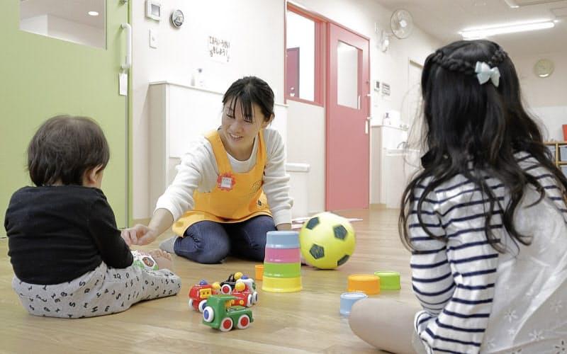 従業員のため託児所を備える物流施設が増えている(GLP流山)