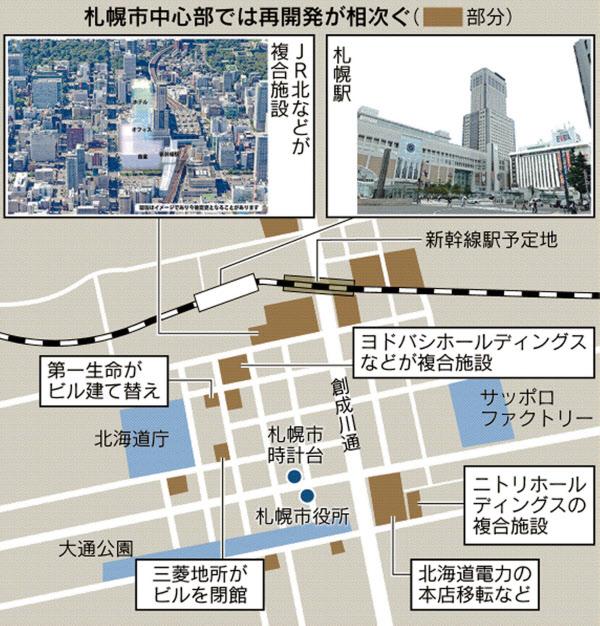 新型コロナ: 札幌がポートランドに?再開発ラッシュの未来観: 日本経済新聞