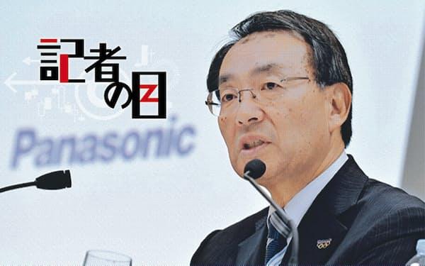 事業戦略説明会に臨むパナソニックの津賀一宏社長(2019年11月、都内)
