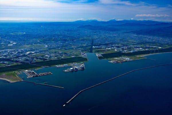実現すれば洋上風力として国内最大級の発電規模となる(石狩湾新港)