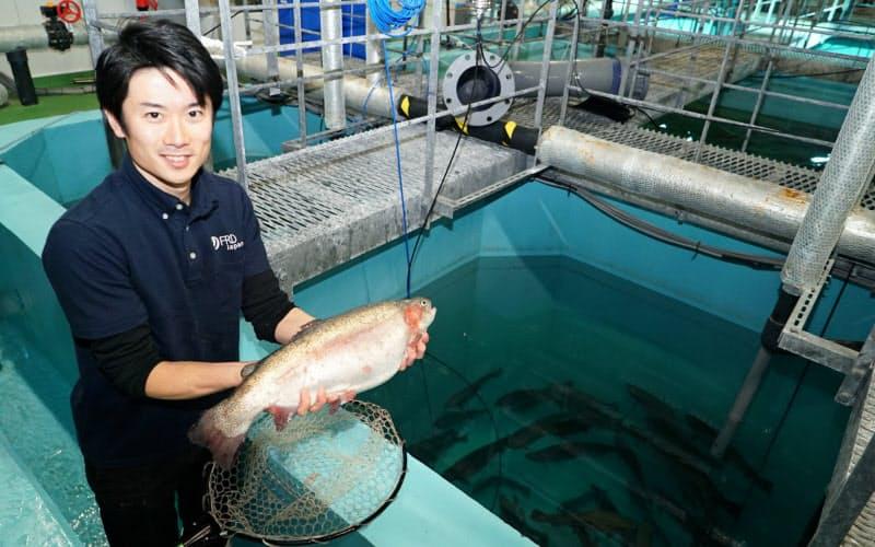 FRDジャパンの十河COOはサーモンの陸上養殖で食糧危機の解決を目指す(千葉県木更津市)