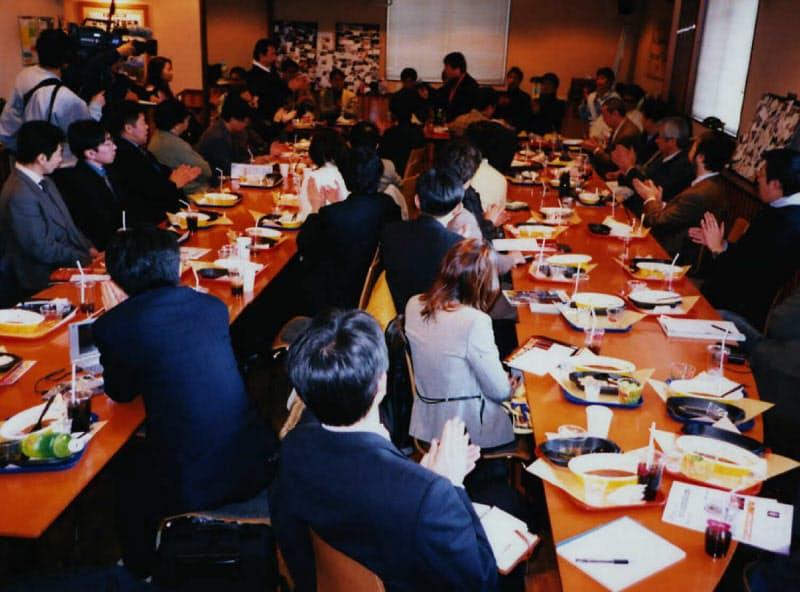 IT系スタートアップの経営者が集うカフェは熱気があふれていた(2001年、札幌市)