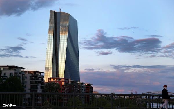 ドイツ連邦憲法裁判所は5月、ECB(写真)の債券購入プログラムが適法である根拠を示すよう求めた=ロイター