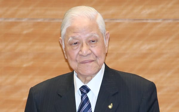 日本の国会議員を前に講演する台湾の李登輝・元総統(2015年、衆院第1議員会館)