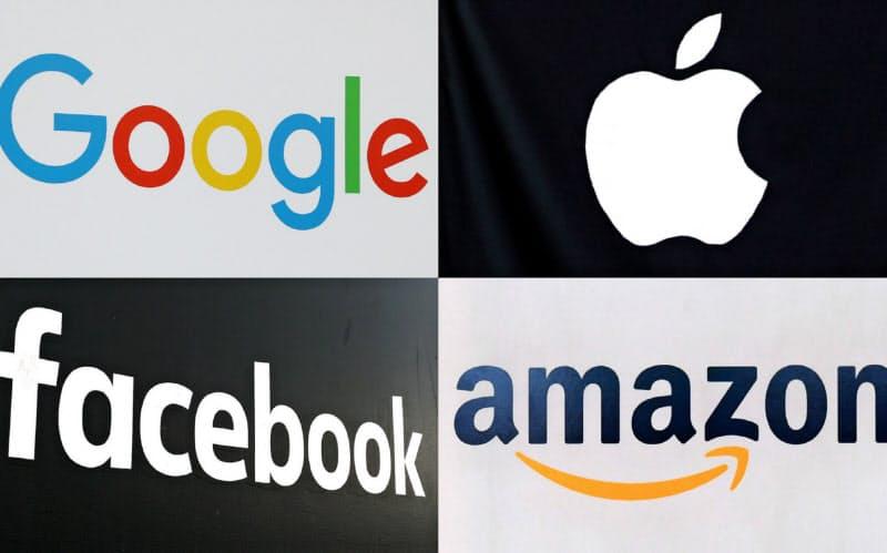 GAFA(グーグル、アップル、フェイスブック、アマゾン)がオンライン決済などのフィンテック事業に相次ぎ参入している