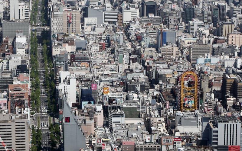 大阪市中心部
