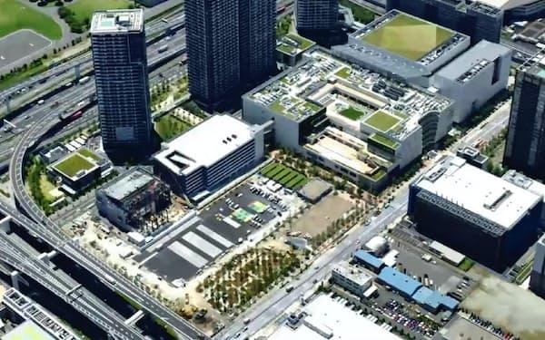 有明ガーデンは10ヘクタール超の広さを持つ複合施設