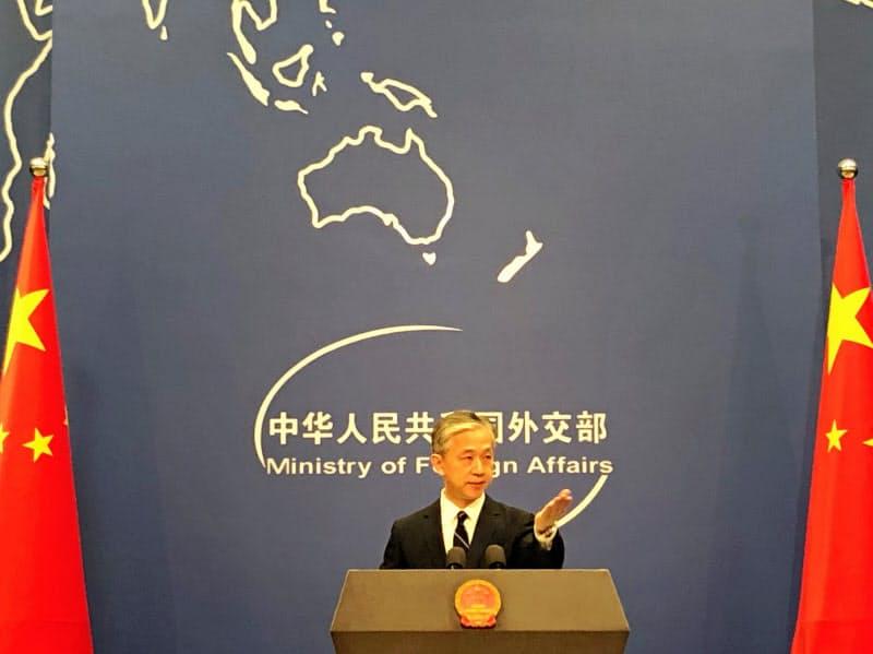 中国外務省の汪文斌副報道局長(2020年7月24日)