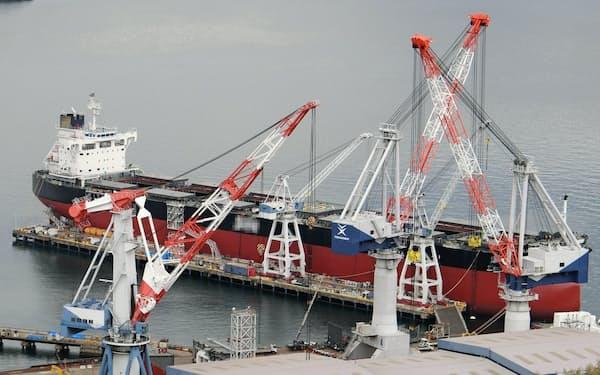 広島県福山市の常石造船=一部画像処理しています