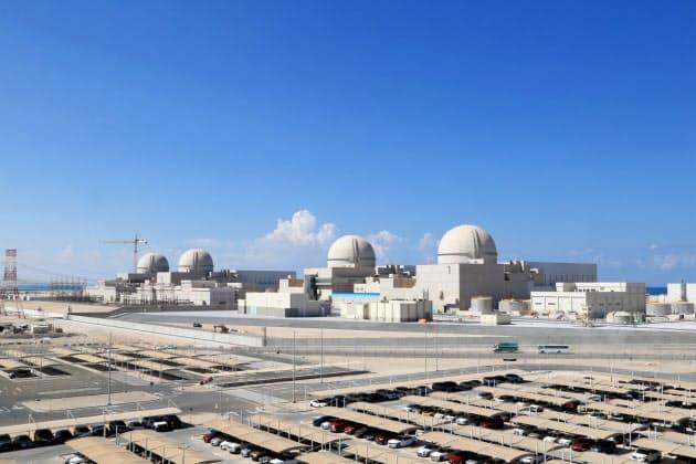 1日に稼働したUAEのバラカ原発(エミレーツ原子力エネルギー提供)
