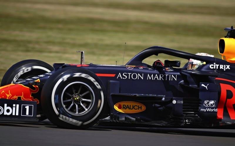 F1英国GPで2位に入ったレッドブル・ホンダのフェルスタッペン=AP