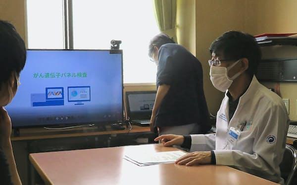 市立函館病院が開設した「がんゲノム医療外来」の実演