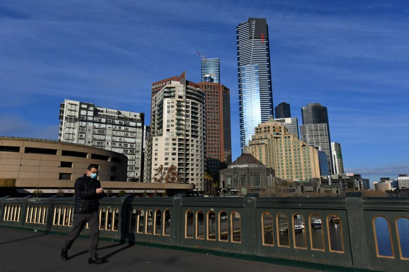 オーストラリア第2の都市メルボルンでは新型コロナウイルスの新規感染が増加傾向だ(3日)=AAP