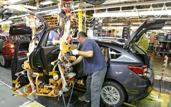 米インディアナ州の完成車工場では新型コロナで生産に影響が出た