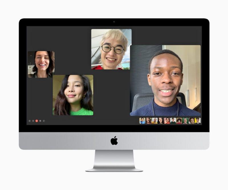 アップルの新しい27インチiMacではビデオ会議向けに内蔵カメラやマイクの性能を改良した