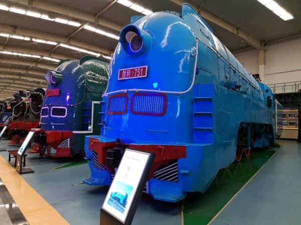 南満州鉄道が運行していた特急列車「あじあ号」の蒸気機関車(2019年9月、遼寧省瀋陽市)