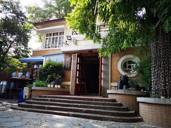 海鮮レストラン「陸拾壹號院」は1930年代に建てられた建物を改修して開店した(遼寧省大連市)