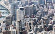 大阪市ではマンションの増加でファミリー層や単身者の転入が続いている
