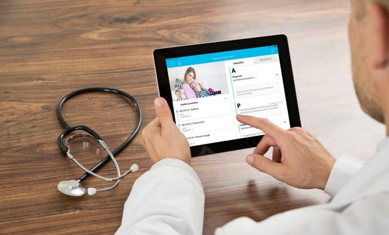 新型コロナ対応で遠隔医療へのニーズが高まっている(テラドック・ヘルスのサービス画面、同社提供)
