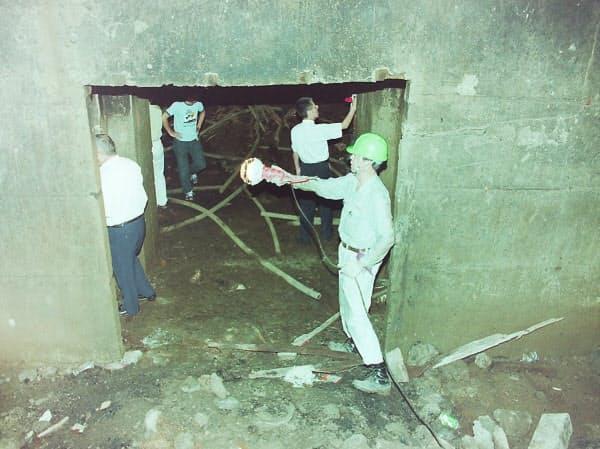 2001年に発掘調査された、地下に建設された「隠蔽放送所」(埼玉県川口市)