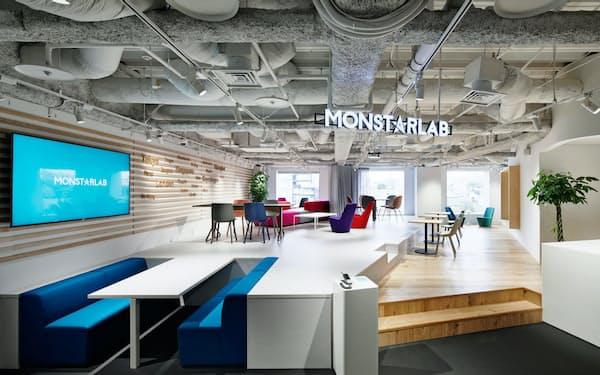 モンスター・ラボは東京本社の従業員の2割が外国人で、ダイバーシティに富んでいる