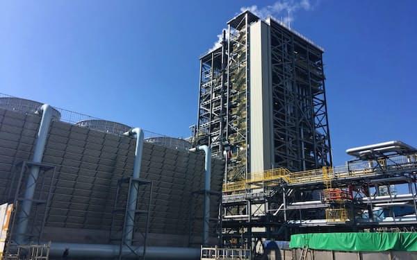 大王製紙の三島工場(愛媛県四国中央市)内で稼働したバイオマス発電設備