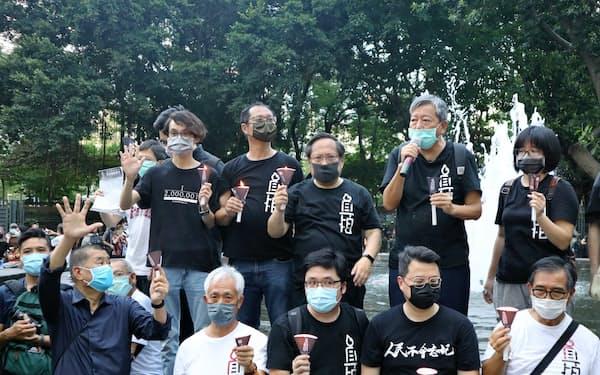 民主派が決行した天安門事件の追悼集会が問題視された(6月4日、香港)