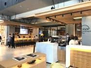 1階フロアは交流の場としてカフェなどを備える(ニッコースタイル名古屋)
