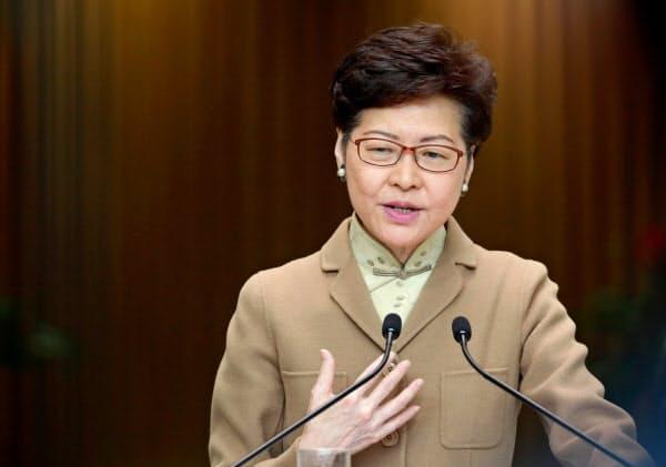 米国の制裁対象となった林鄭月娥行政長官=ロイター