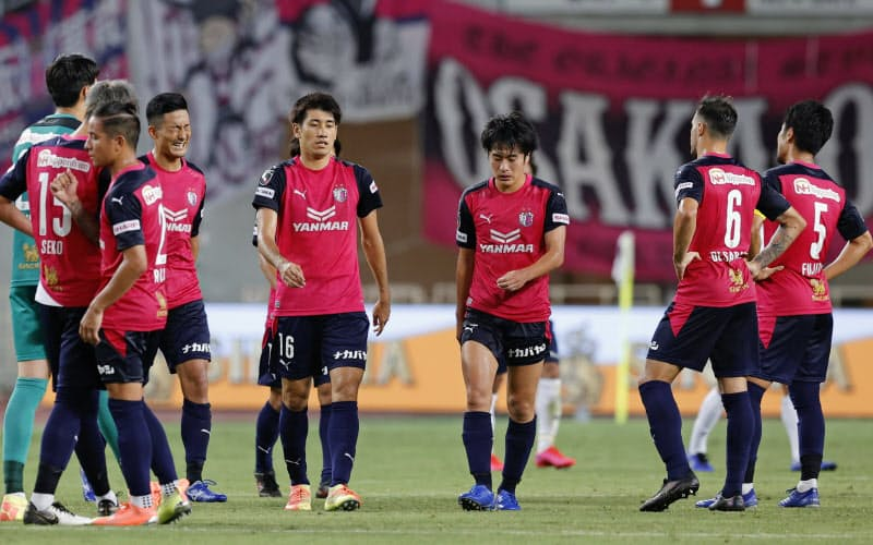 FC東京と引き分けたC大阪(9日、ヤンマー)=共同