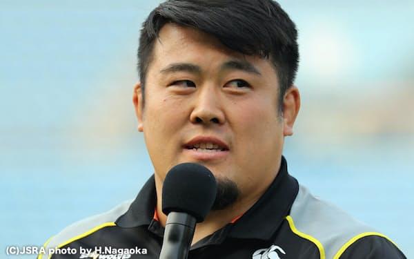 サンウルブズで最多の43試合に出場した浅原は8日のセレモニーで表彰された                                                         =(C)JSRA photo by H.Nagaoka