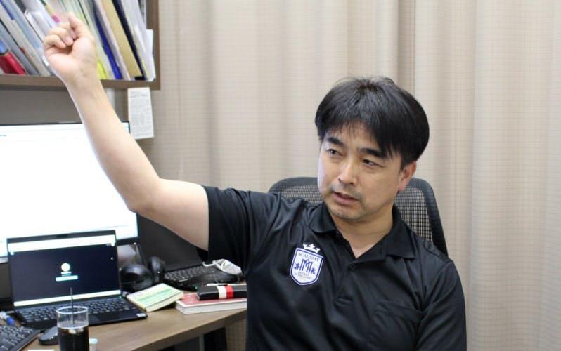 「負担の少ないフォームは多くの練習を積んで身につく」と語る馬見塚さん