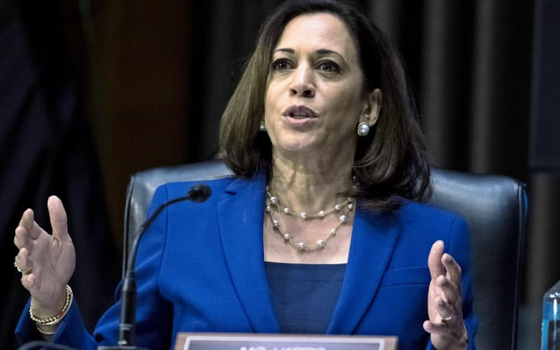 米民主党の副大統領候補に選ばれたカマラ・ハリス上院議員は西部カリフォルニア州の司法長官を務めた=AP