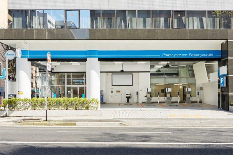 EV充電に加え、時間貸し駐車場などとして使用できるようにした(横浜市)
